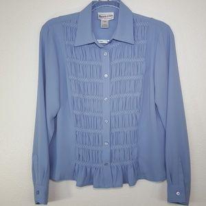 PENDLETON Powder Blue Long-Sleeve Top, size 12